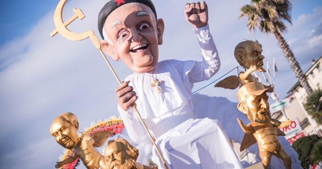 papa francesco carnevale viareggio