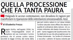 E. Frezza dal quotidiano La Croce: 'Sputateci pure addosso, il 3 giugno ci saremo e sfileremo orgogliosi'