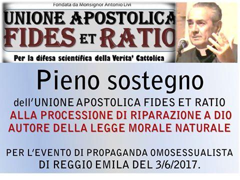 Mons. Livi aderisce alla processione in riparazione del 3 giugno!