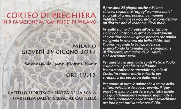 Milano e il Corteo di pubblica riparazione al gay pride