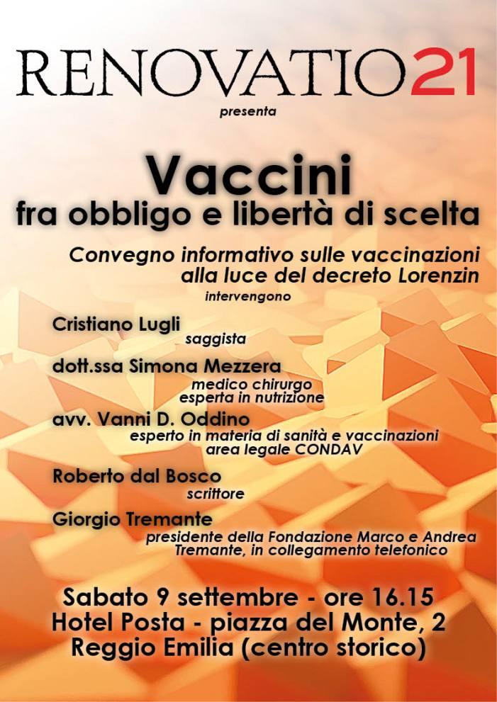 [VACCILEAKS + UN EVENTO] Il punto sul decreto Lorenzin: non ci sono innocenti | Appuntamento sabato 9 sett. a R. Emilia