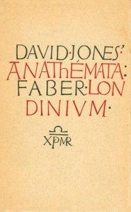 """""""Anathemata"""" (copertina della prima edizione del 1952, su disegno di David Jones)"""