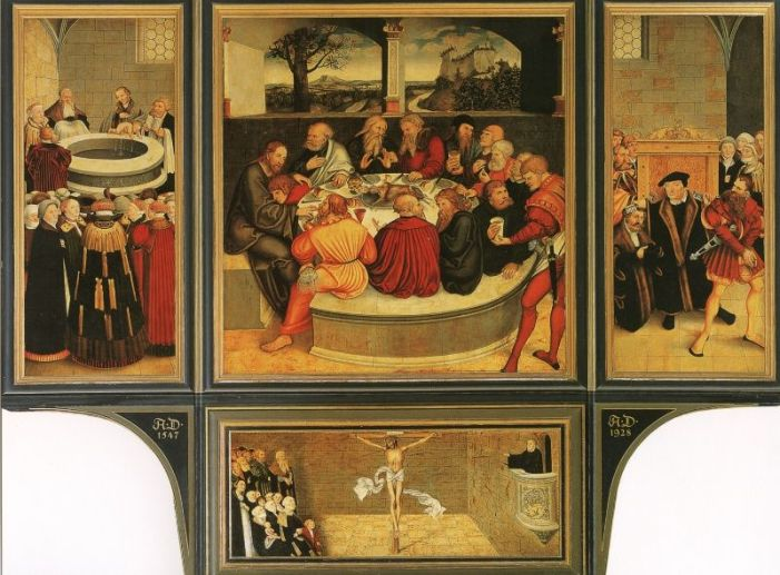 La Cena protestante di Lucas Cranach il Vecchio ovvero la Verità fa capolino anche dalle croste