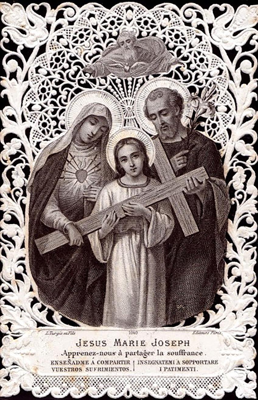 Jesus Mary Joseph Teach us to share the pain. Turgis