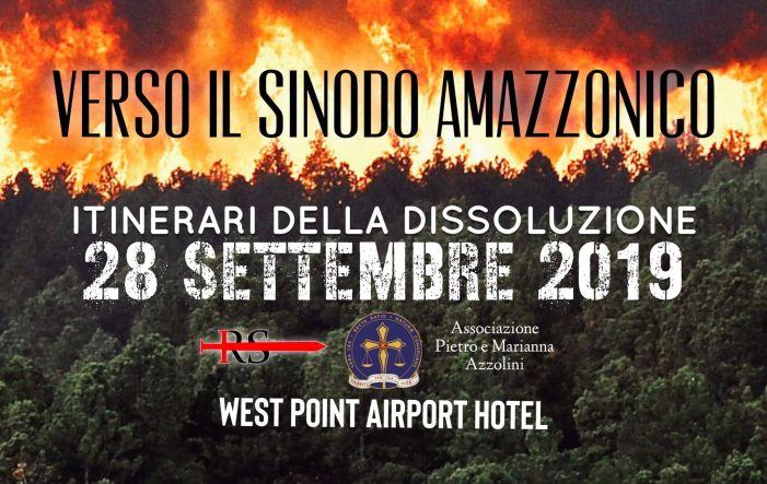 L'anti-sinodo amazzonico a Verona. Lanciati banner e locandina