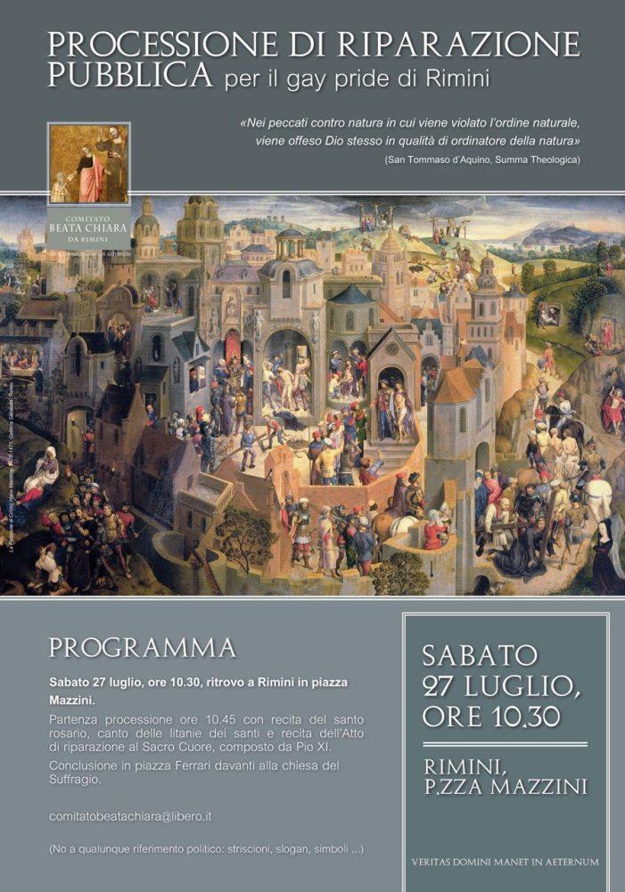 [27 LUGLIO] Comunicato del Comit. B. Chiara da Rimini: perché la processione di riparazione