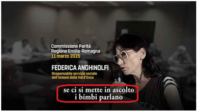"""Audio del sindaco Carletti e dell'Anghinolfi (invitati in regione per il modello Val d'Enza): """"I bimbi parlano"""""""