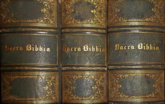 Una pagina dell'abate Riccioti, biblista, contro la 'Bibbia per tutti'.