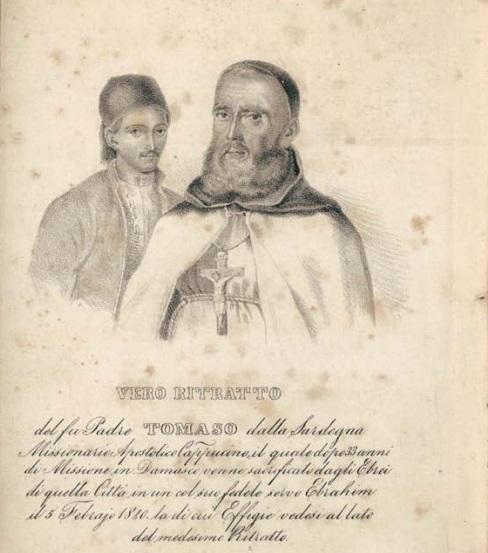 """Vita e martirio di Fra' Tommaso da Calangianus, vittima di """"omicidio rituale"""""""