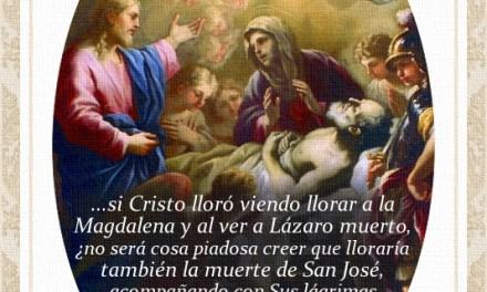 [DIFUNDE TU FE CATOLICA] LAS LÁGRIMAS DE JESÚS Y DE MARÍA EN LA MUERTE DE SAN JOSÉ