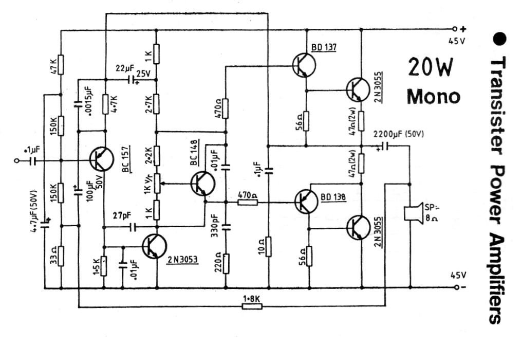 upc1280v power amplifier circuit 20w