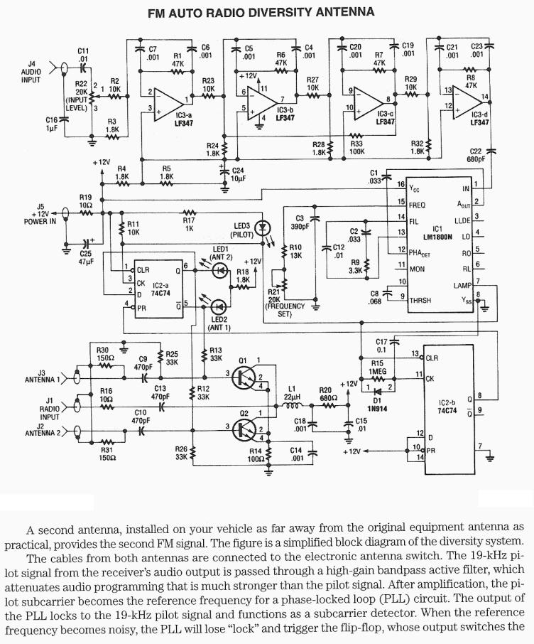 receiver mixer schematic diagram and circuit description