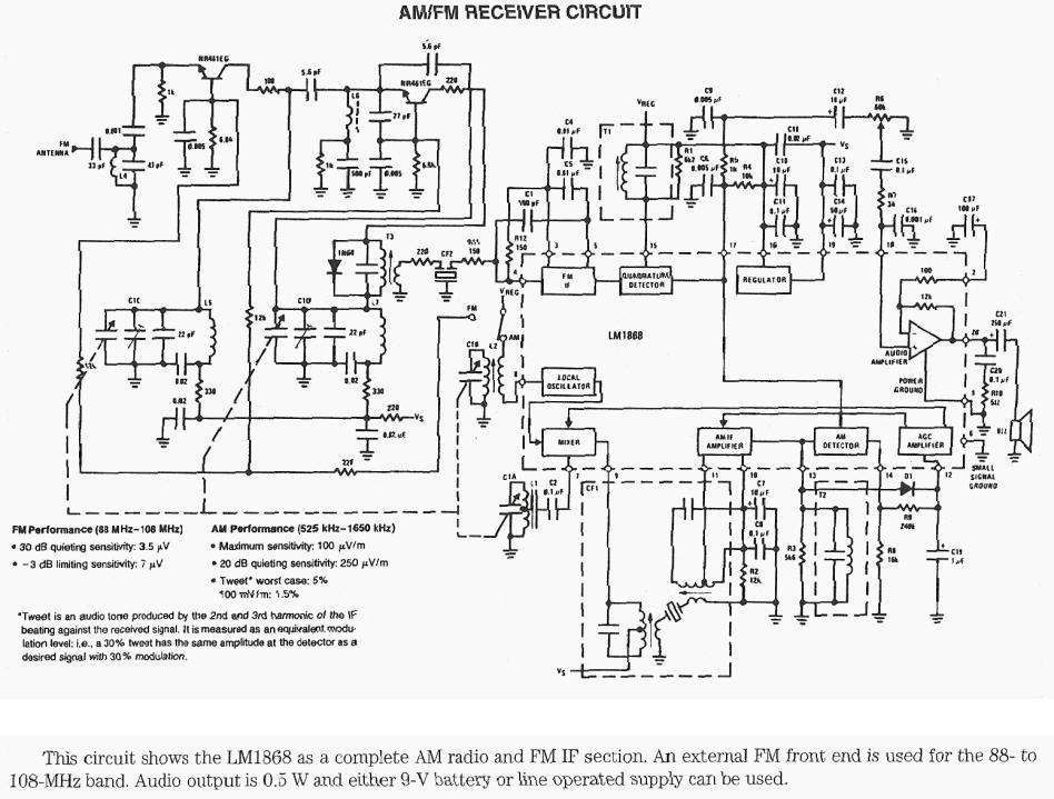 circuit diagram fm receiv