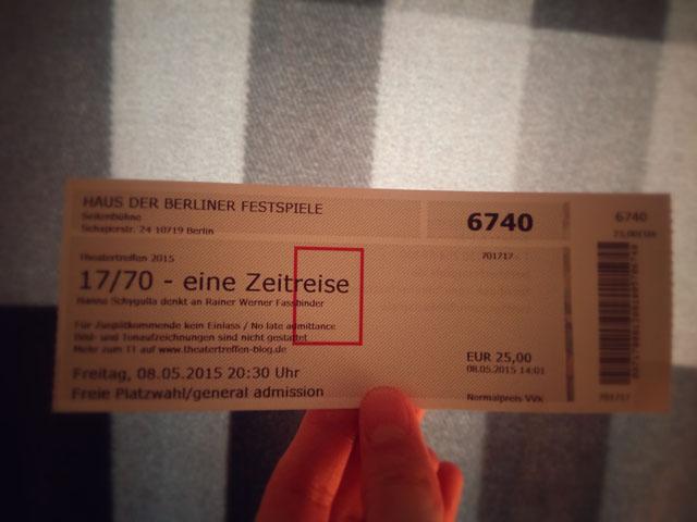 Ticket 17 70 - eine Zeitreise Giuseppe Govinda