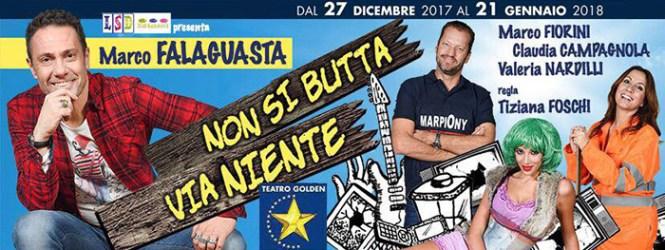 """Marco FALAGUASTA, Marco FIORINI, Claudia CAMPAGNOLA e Tiziana FOSCHI ospiti a POLTRONISSIMA per """"Non si butta via niente"""""""