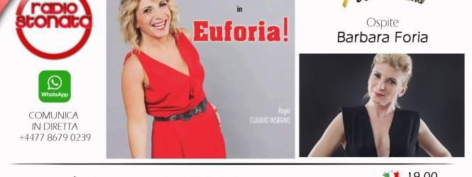 Lunedì 7 maggio alle 20 ospite a POLTRONISSIMA la grande Barbara Foria con lo spettacolo Eu … foria.