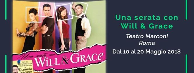 Giovedì 10 maggio alle 18 a POLTRONISSIMA ospiti Claudio Insegno e Marco Stabile per lo spettacolo WILL & GRACE