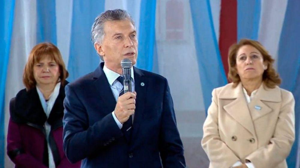 foto: Macri apuntó contra los Moyano en el acto por el Día de la Bandera