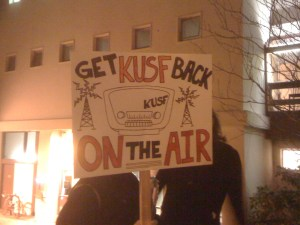 Rally to Save KUSF on Jan. 19, 2011 (Photo: J. Waits)