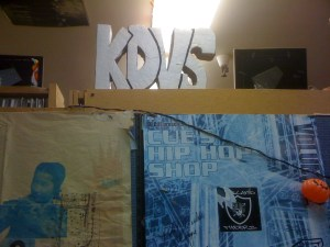KDVS Sign, November 2011 (Photo: J. Waits)