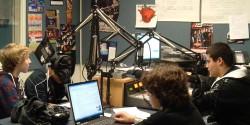 high school radio station WGBK radio studio. Photo: J. Waits