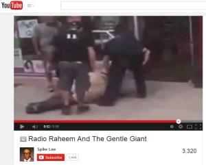Radio Raheem and the Gentle Giant