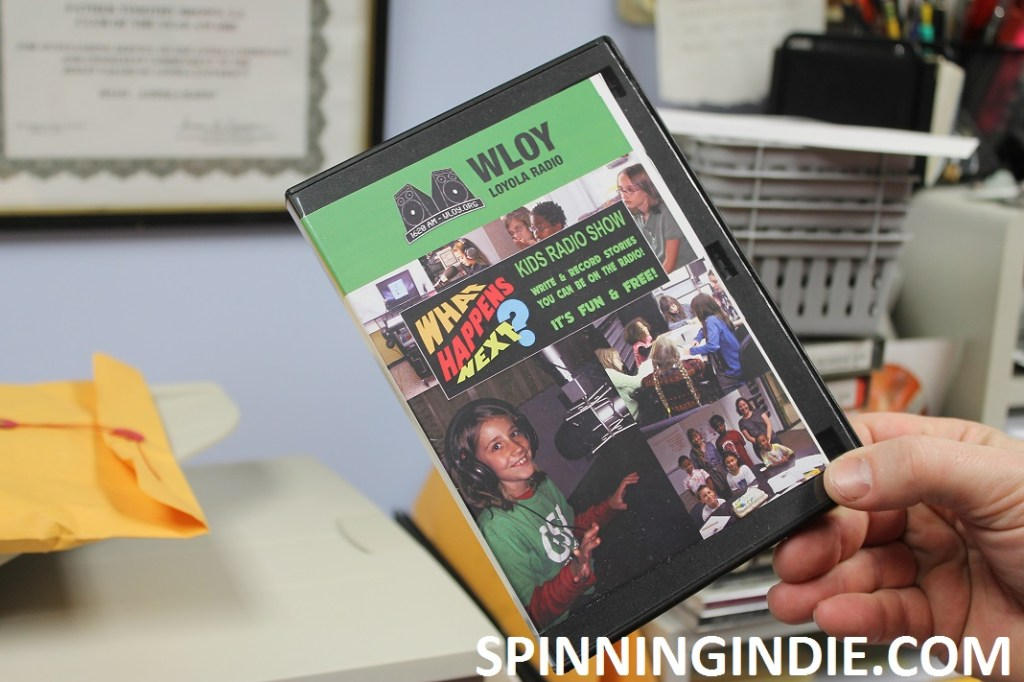 copy of kids' show What Happens Next? at college radio station WLOY