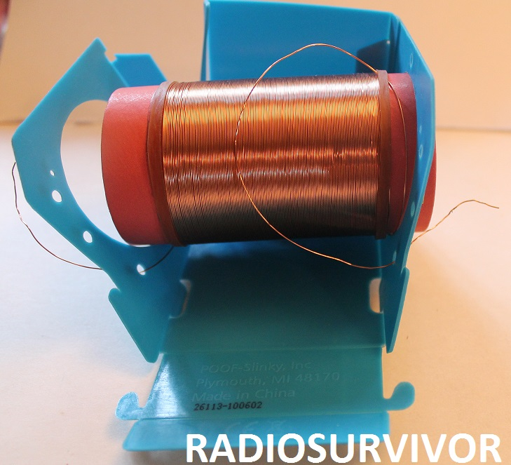 putting the tuning coil into the radio base