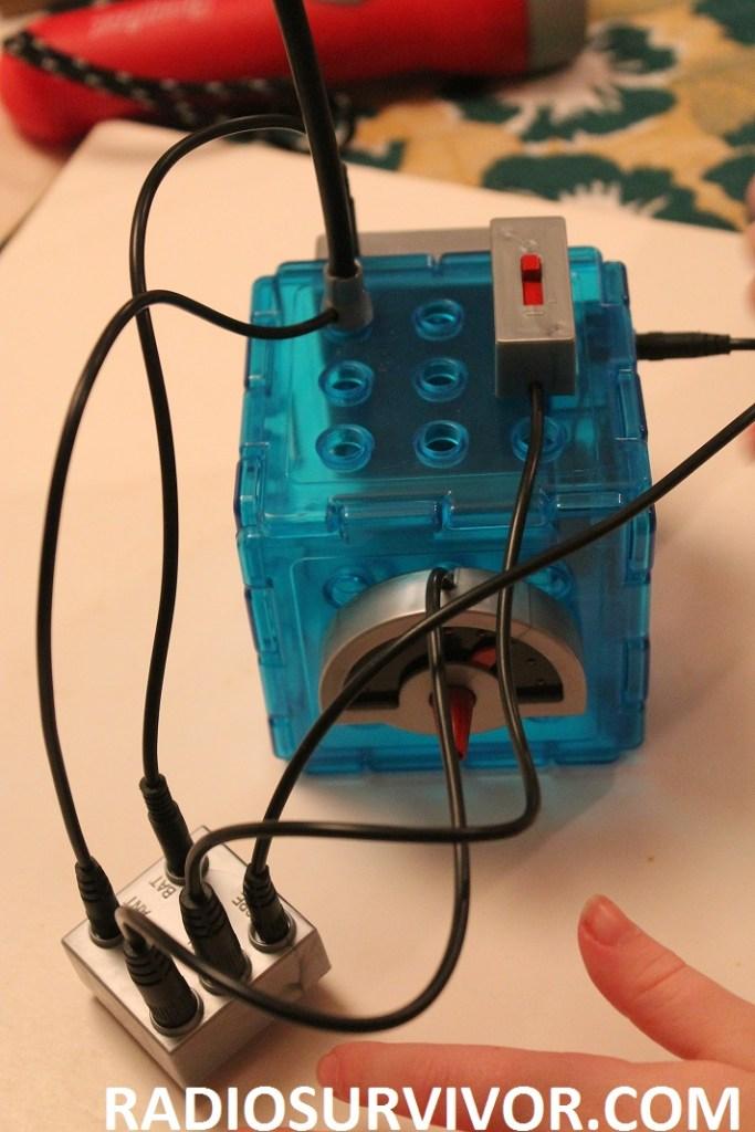 attaching wires to Wonderology radio