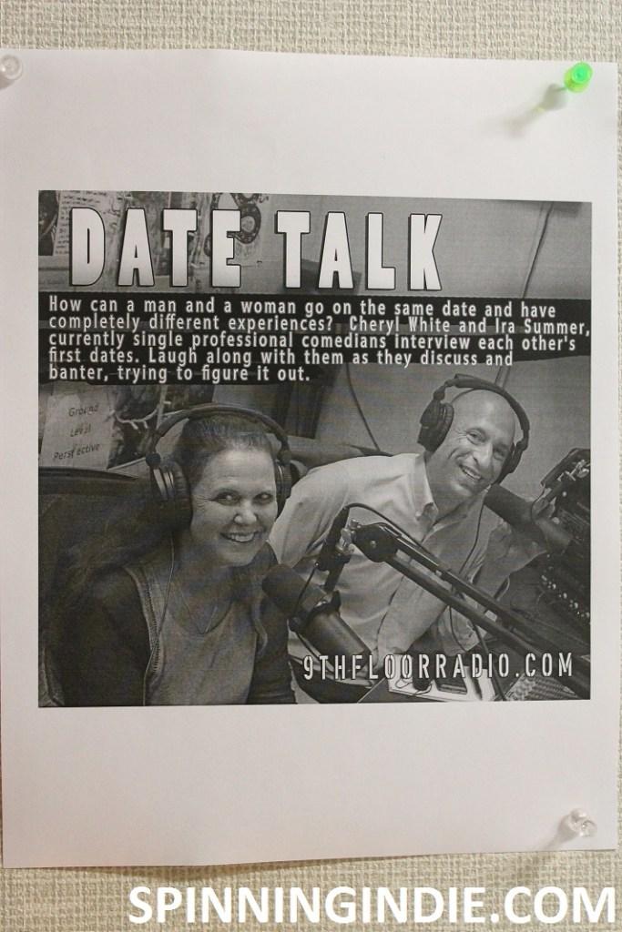 Date Talk flyer at 9th Floor Radio