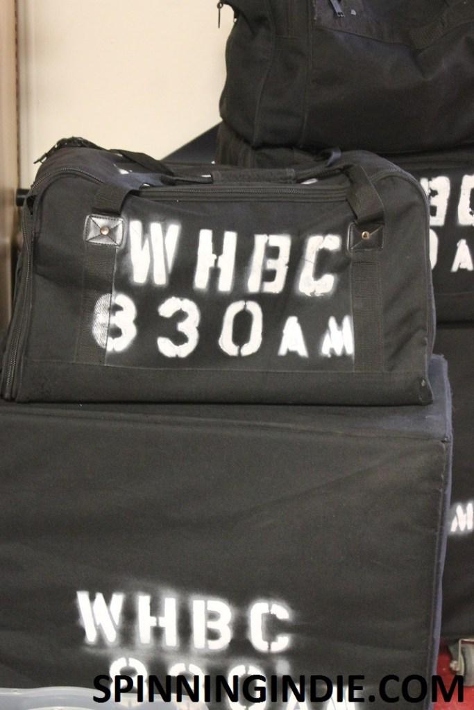 equipment at college radio station WHBC