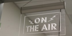 On the air sign at high school radio station KBCP