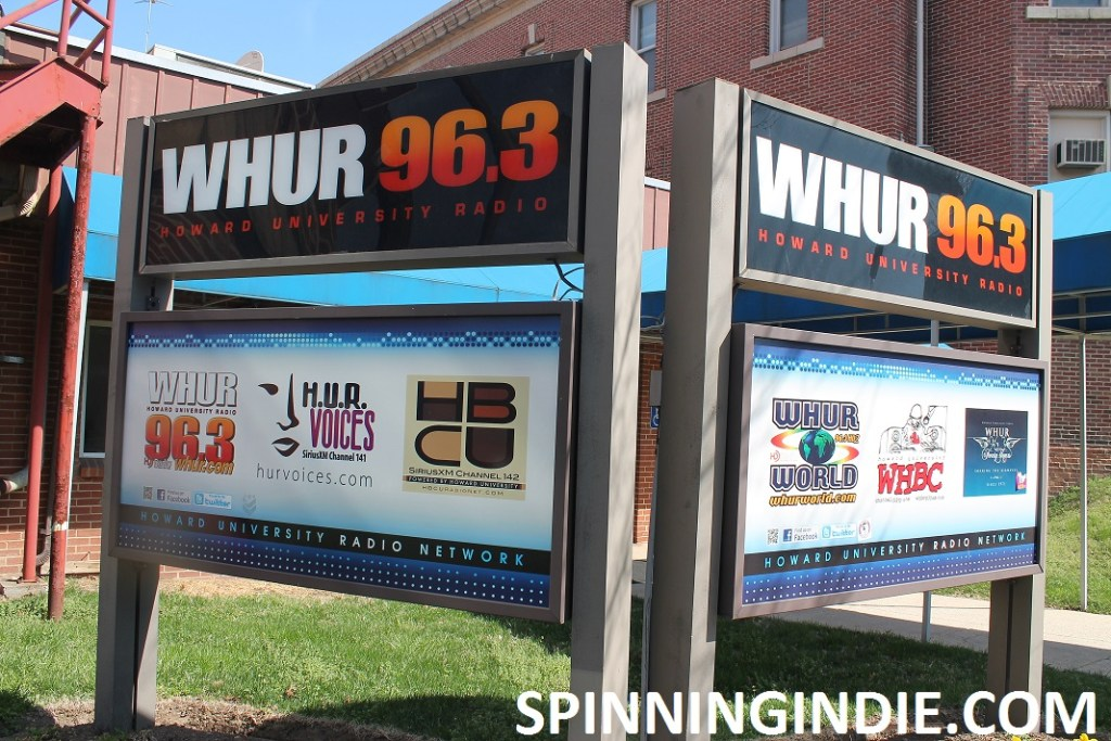 signage outside commercial college radio station WHUR