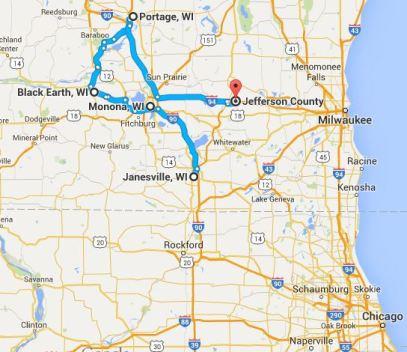 Map of LPFMs in Wisconsin