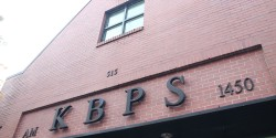 Entrance to high school radio station KBPS-AM. Photo: J. Waits