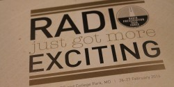 "Radio Preservation Task Force - back of program: ""Radio Just Got More Exciting"" - Photo: J. Waits"