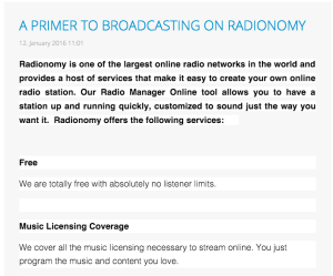 """From Radionomy's """"Producer's News"""" blog"""