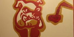 Mural at Brooklyn College Radio station WBCR. Photo: J. Waits