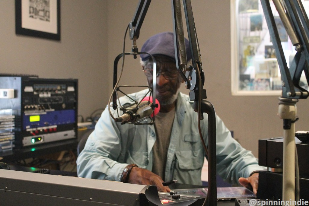 John Cain in the KABF studio. Photo: J. Waits