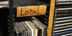 Local CDs in college radio station WDCE studio. Photo: J. Waits