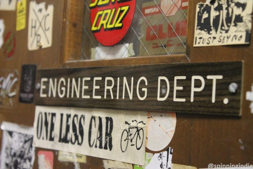 Engineering Dept. sign at WKDU. Photo: J. Waits