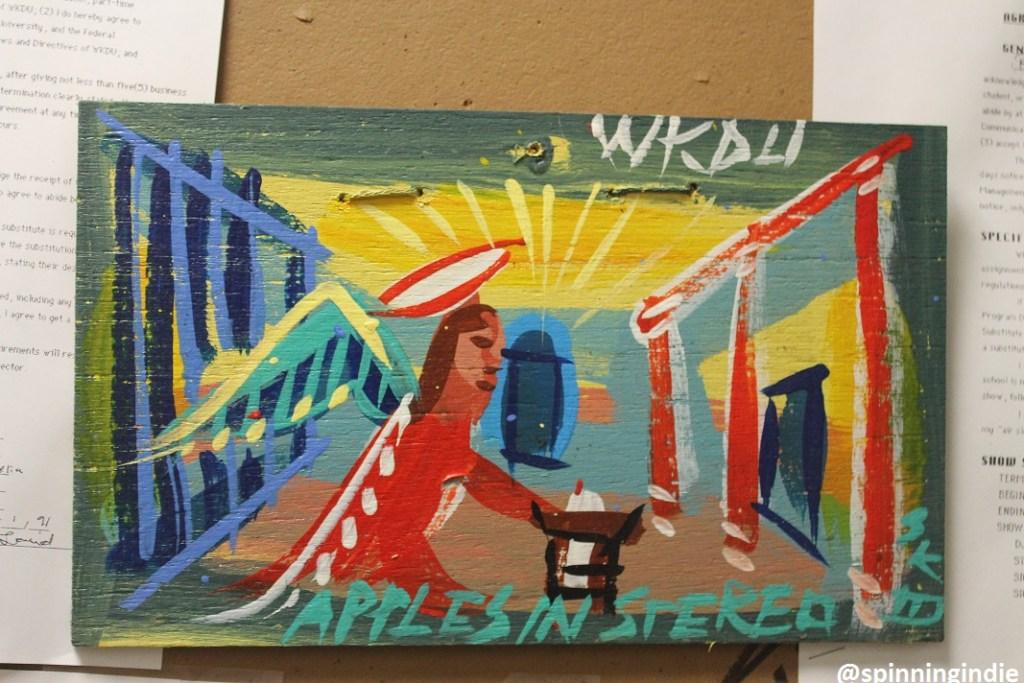 """Steve Keene """"Apples in Stereo"""" painting at WKDU. Photo: J. Waits"""