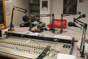 WKCR studio. Photo: J. Waits