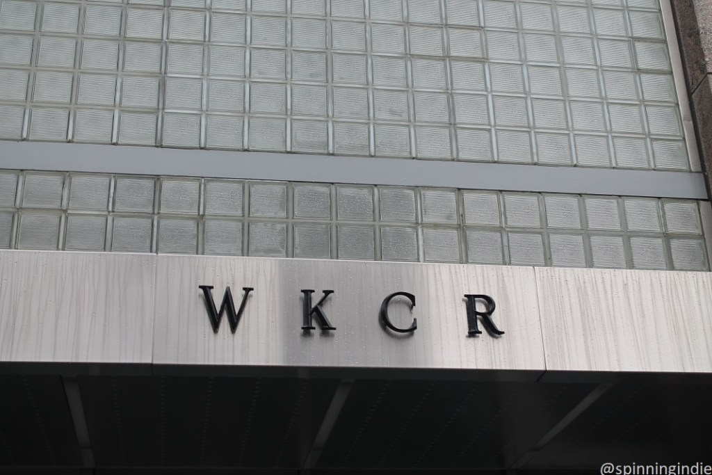 WKCR sign on the outside of the college radio station's building. Photo: J. Waits
