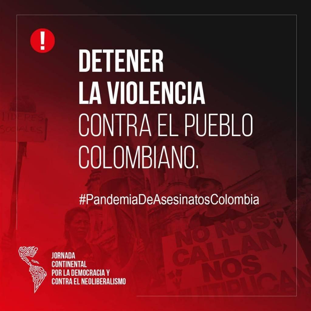 Apoyo a la movilización en Colombia