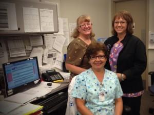 infirmières dans un centre de cancérologie