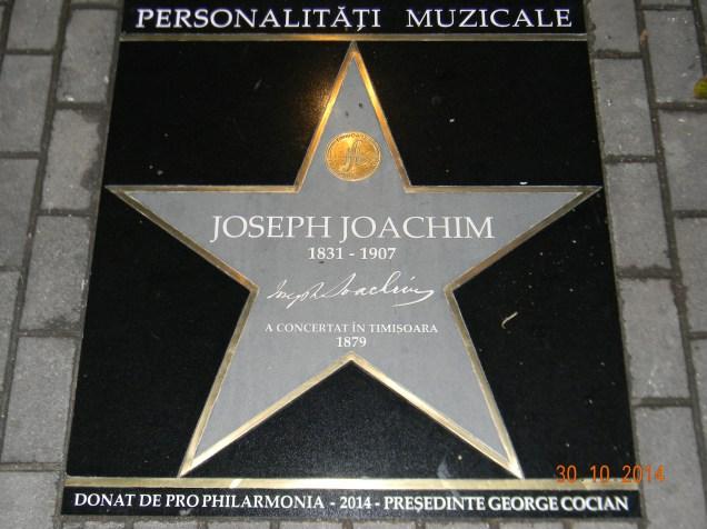 Aleea Muzicienilor stea Joseph Joachim (1)