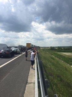 incendiu masina autostrada A1 (1)