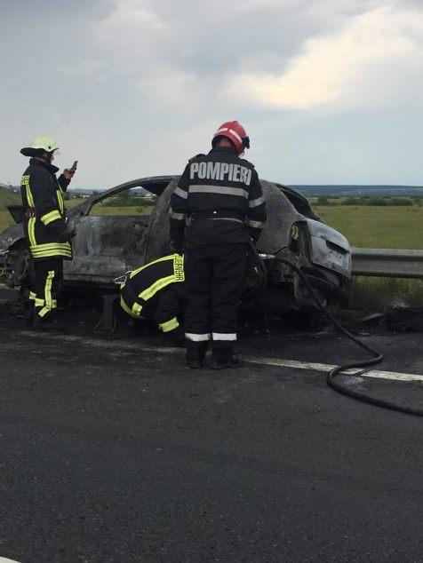 incendiu masina autostrada A1 (6)