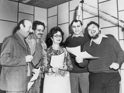 Actori la microfonul Radio Timisoara BW